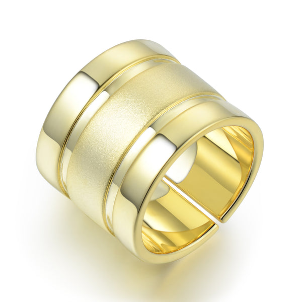 Sterling Silver Pinky Finger Ring Plated with 18K Yellow Gold