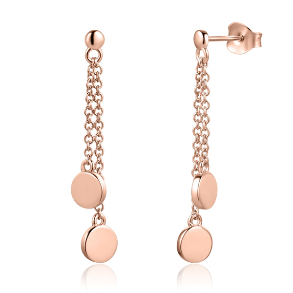 Sterling Silver Earrings Covered with 18-karat Rose Gold