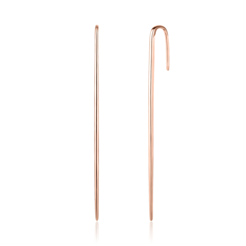 Sterling Silver Ear Pin Covered with 18-karat Rose Gold