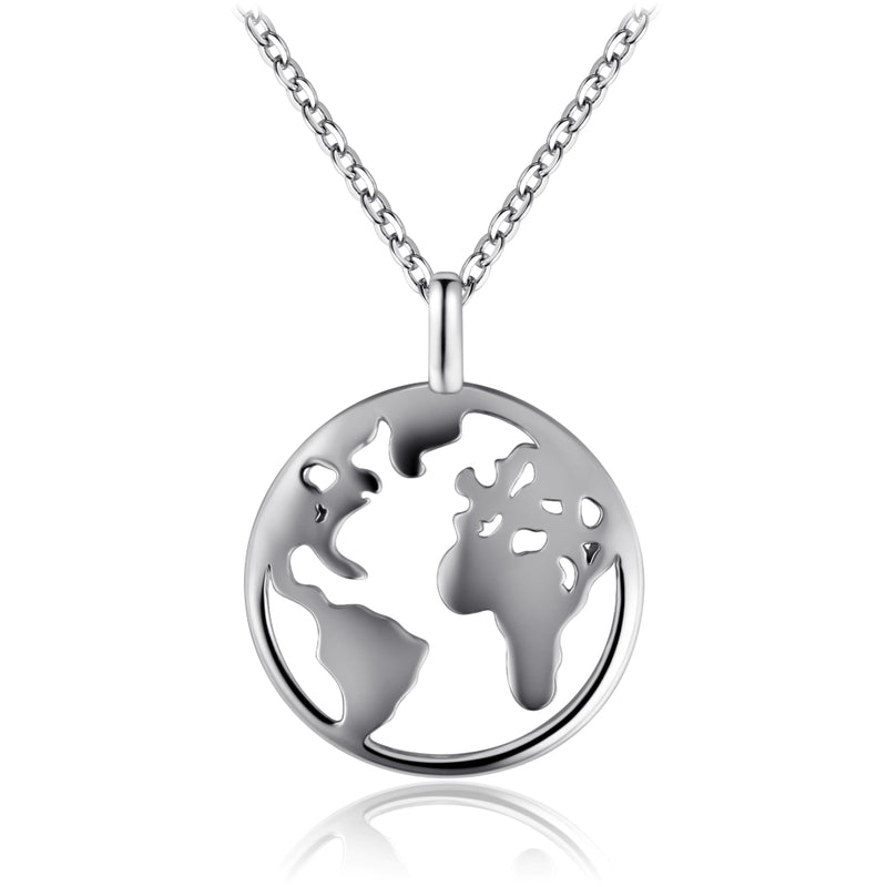 Sterling Silver Globetrotter Necklace
