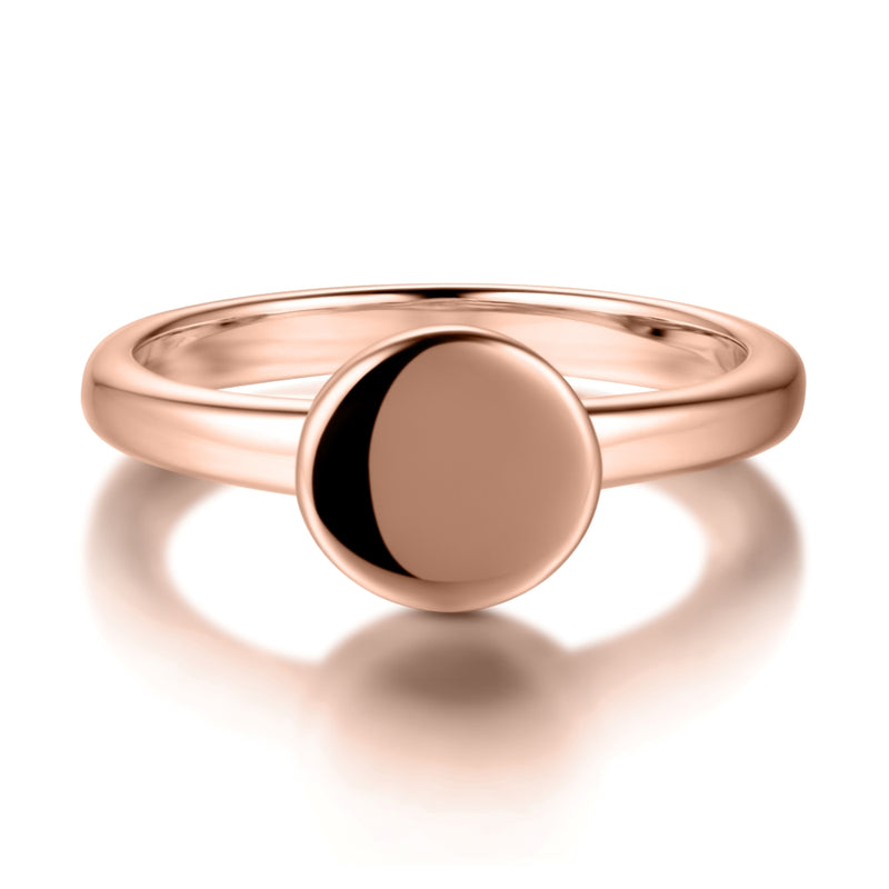 Sterling Silver Signet Ring Covered with 18-karat Rose Gold