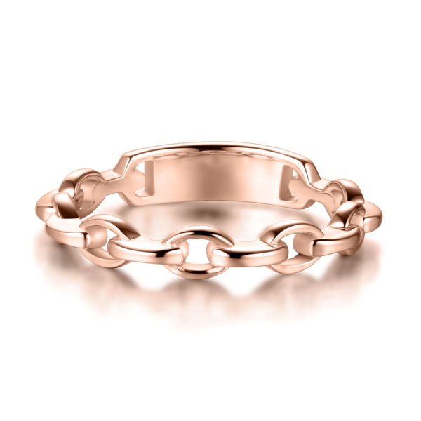 Sterling Silver Ring Covered with 18-karat Rose Gold