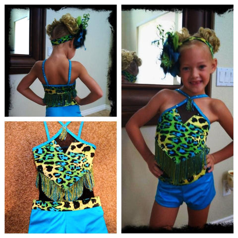 Child Jazz Dance Costumes Resale Costume Colorful Leopard Print