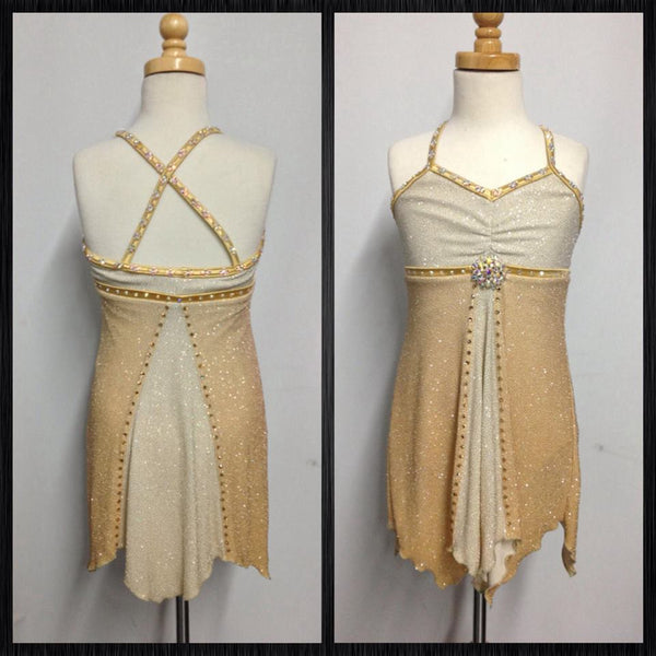 Gold and Cream Dance Costume