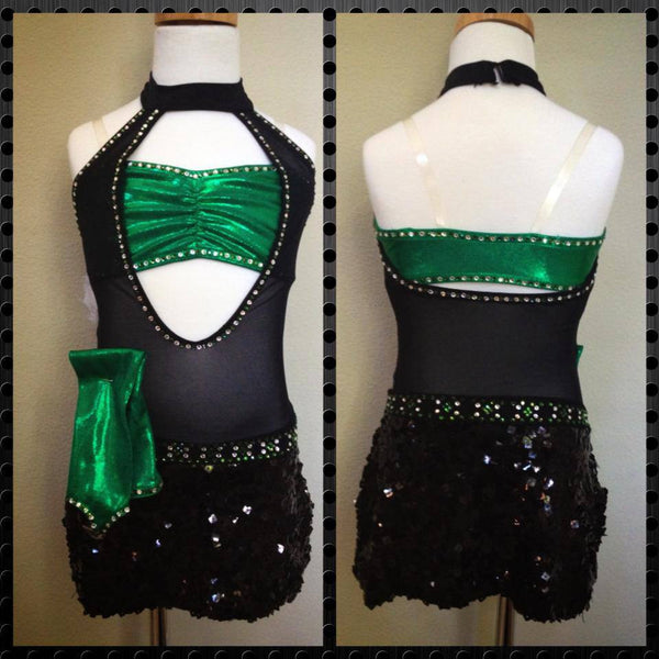 Black and Green One Piece Costume