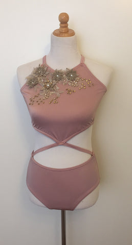 Contemporary Dance Costume Rose Color