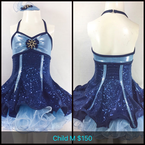 Navy Blue Dress Dance Costume