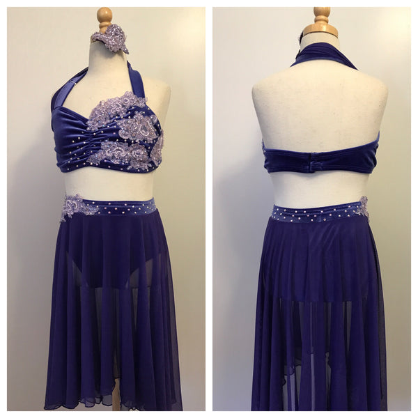 Beautiful Purple Lyrical Costume