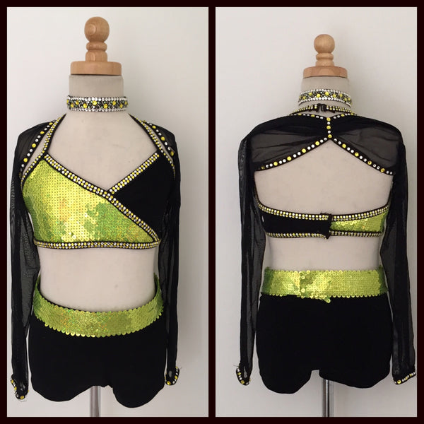 Black and Green Strongest Suit Tap Costume