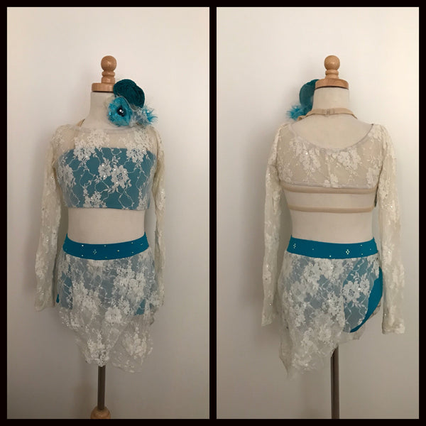 White Lace Lyrical Costume