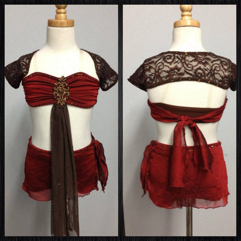 Maroon Lyrical Costume