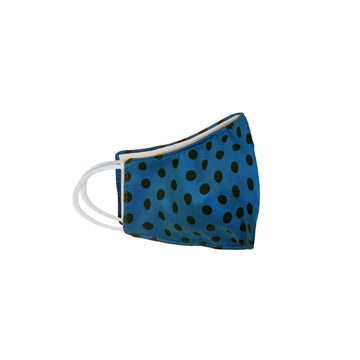 Youth Blue Polka Face Mask