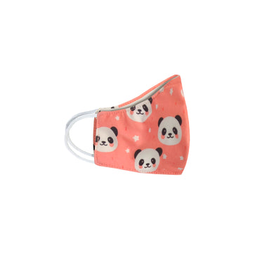 Youth Pink Panda Face Mask