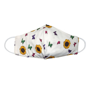Youth Sunflower Butterfly Face Mask