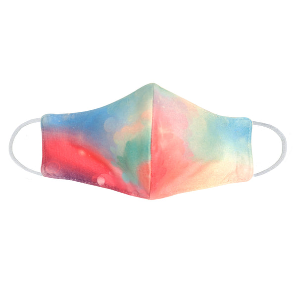 Youth Rainbow Tie Dye Face Mask