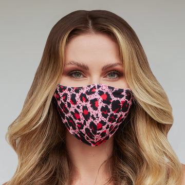 Pink Cheetah Face Mask