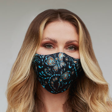 Seamless Butterfly Face Mask