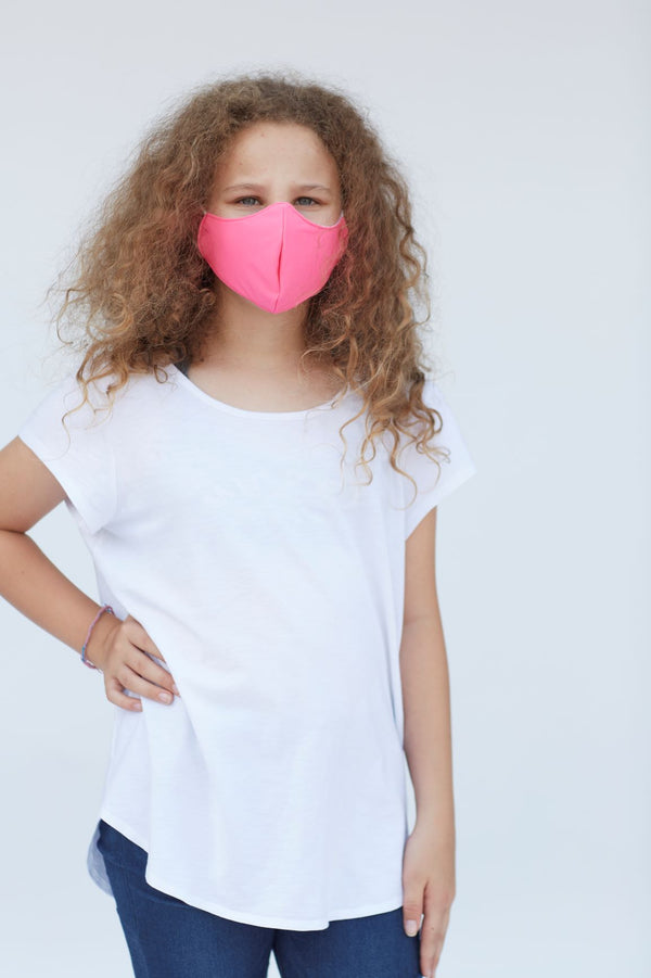 Youth Solid Charity Pink Face Mask