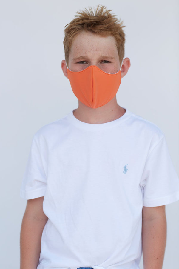 Youth Solid Orange Face Mask