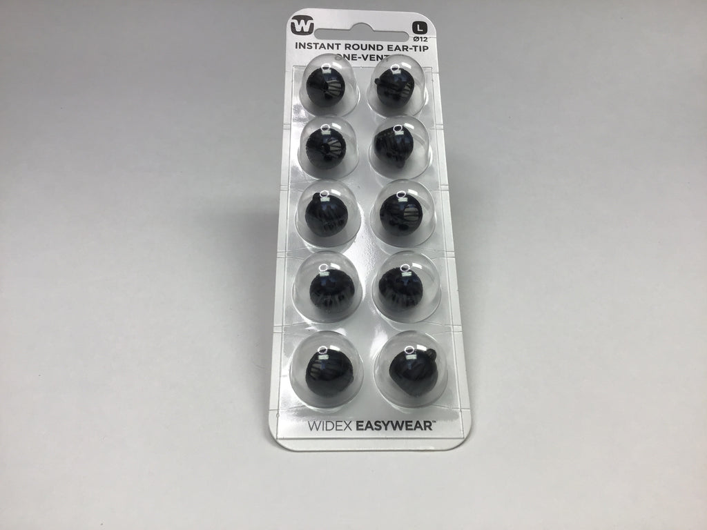 Widex Instant Round Ear-Tip One-Vent Bud Tip Dome - hearite.com