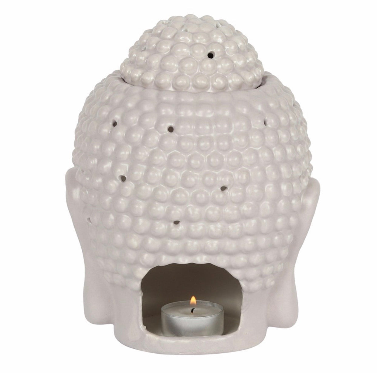 Large Grey Buddha Head Burner