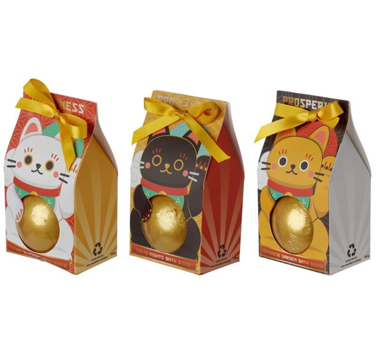 Maneki Neko Lucky Cat Bath Bomb in Gift Box