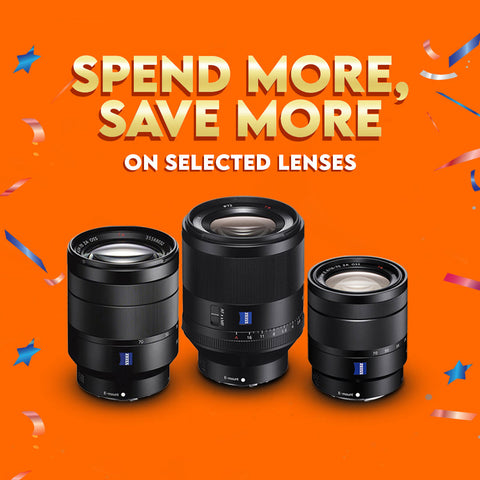 Spend More Save More On Selected Lenses