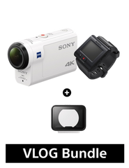 FDR-X3000R 4K Action Cam  with Wi-Fi & GPS (Body + Live-View Remote Kit) + AKA-MCP1 Bundle