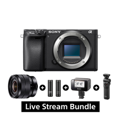 A6400 E-mount Camera with APS-C Sensor (Body only) + SEL1018 + ECM-AW4 + GP-VPT2BT + HVL-LEIR1 Bundle