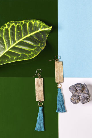 Lele Drop Earrings- Turquoise