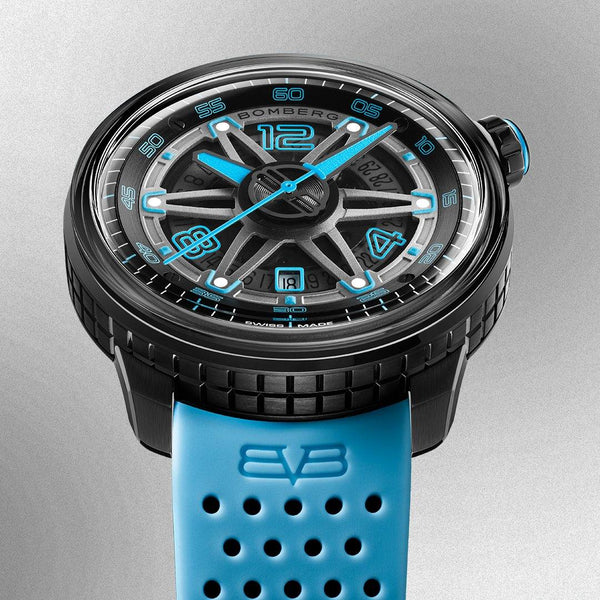 BB-01 AUTOMATIC LIGHT BLUE - B O M B E R G