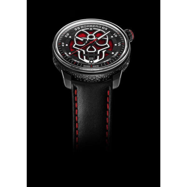 BB-01 AUTOMATIC SKULL RED - B O M B E R G