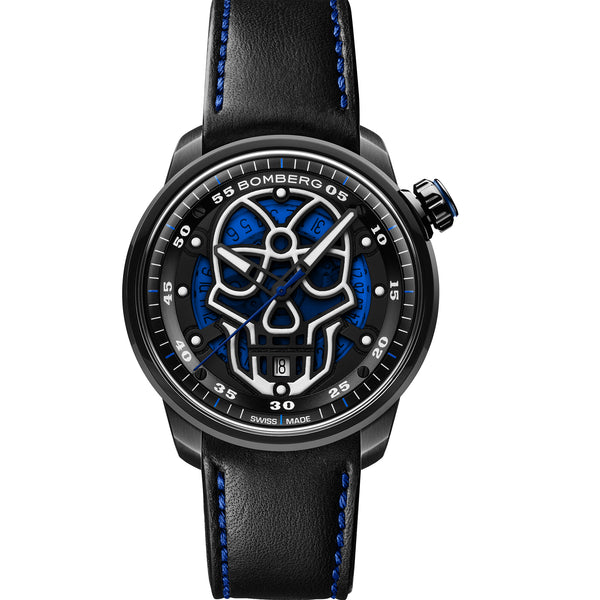 BB-01 AUTOMATIC SKULL BLUE