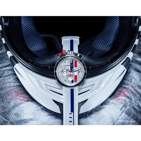 BOLT-68 RACING NAVY BLUE STRIPE - B O M B E R G