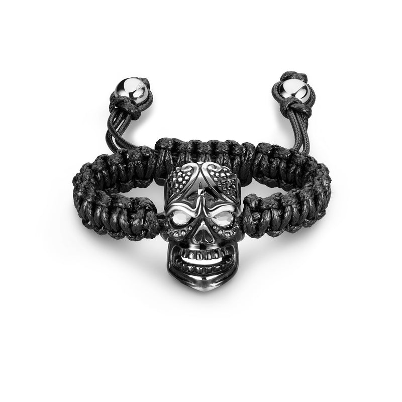 SKULLY BRACELET - BIG HEAD BLACK