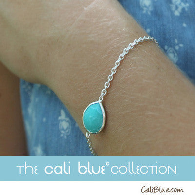 Beautiful Turquoise Amazonite Sterling Silver Bracelet