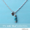 Turquoise and Heart Sterling Silver Necklace