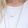 Diamond Chip Bar Necklace