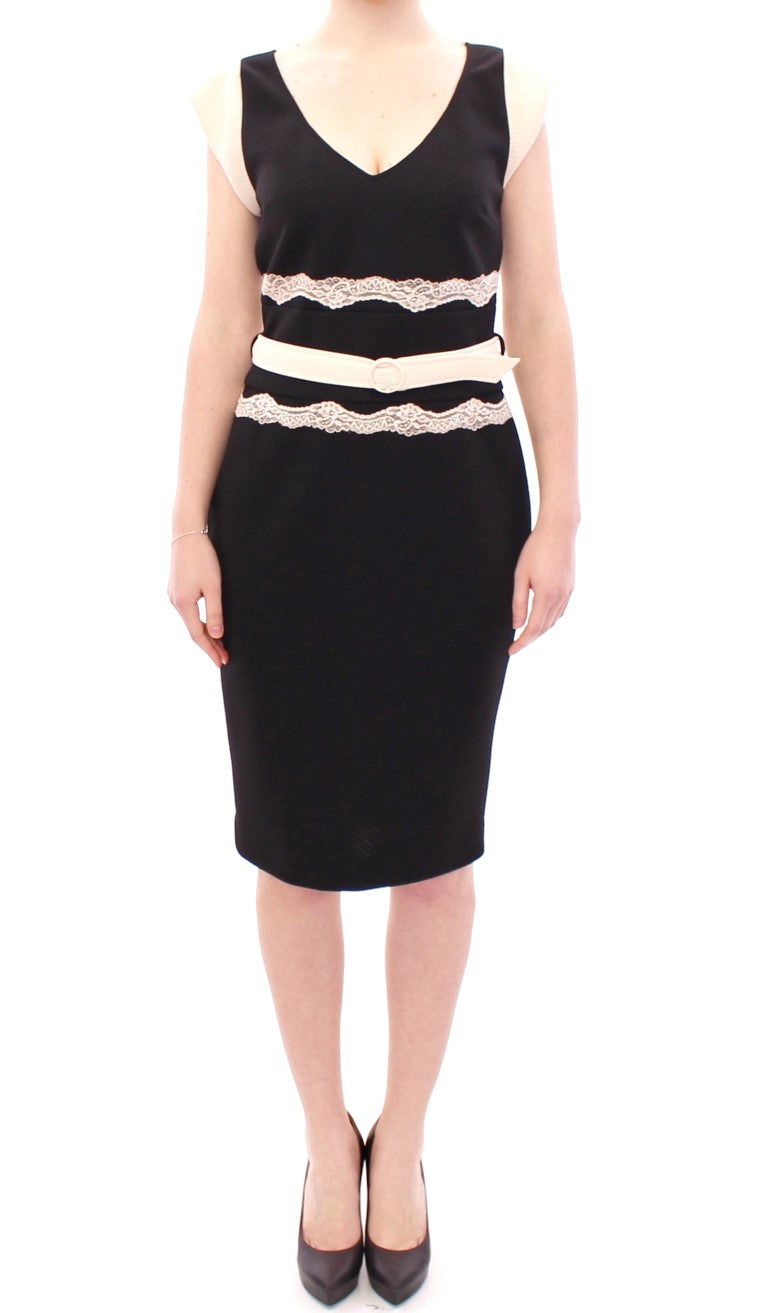 Black lace sheath dress