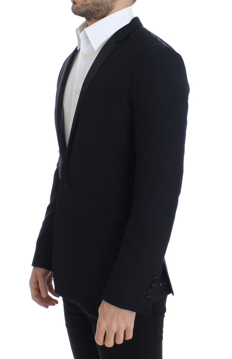Blue wool GOLD slim fit blazer