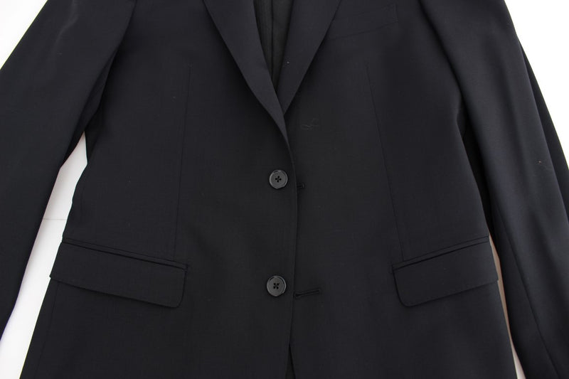 Dark blue wool slim fit blazer