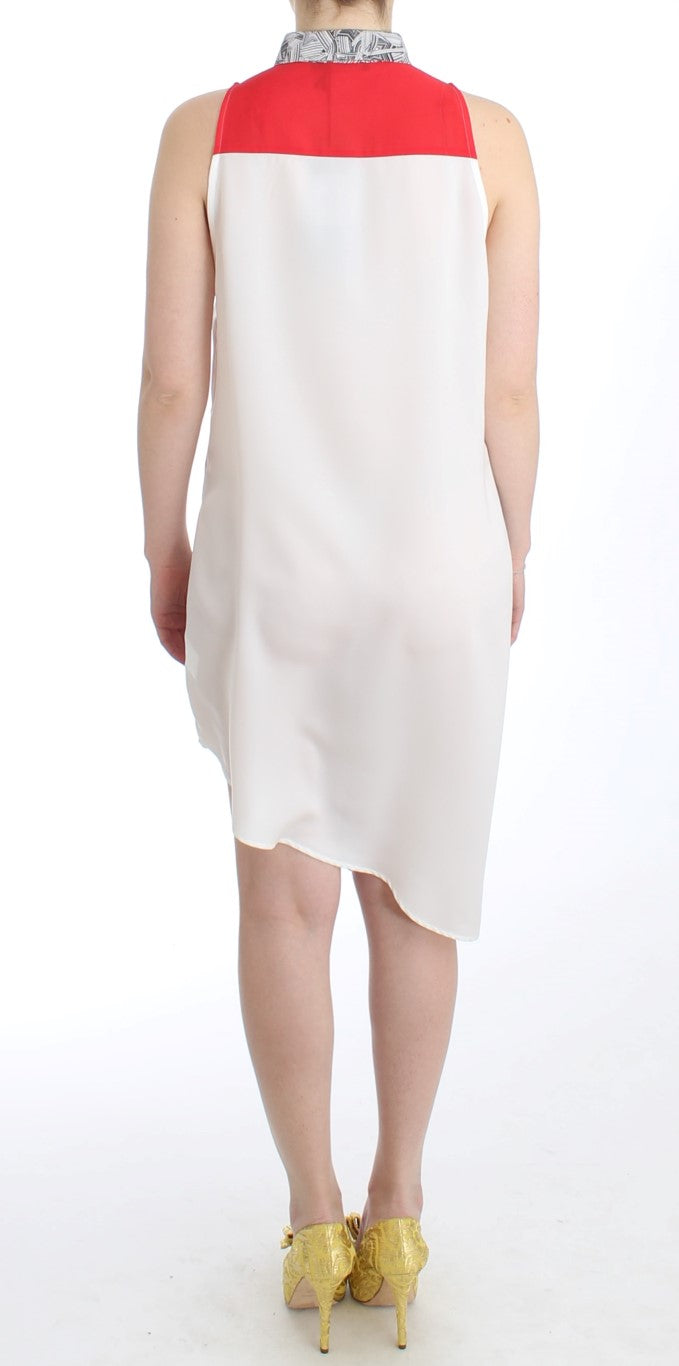 White shirt assymetric hem dress