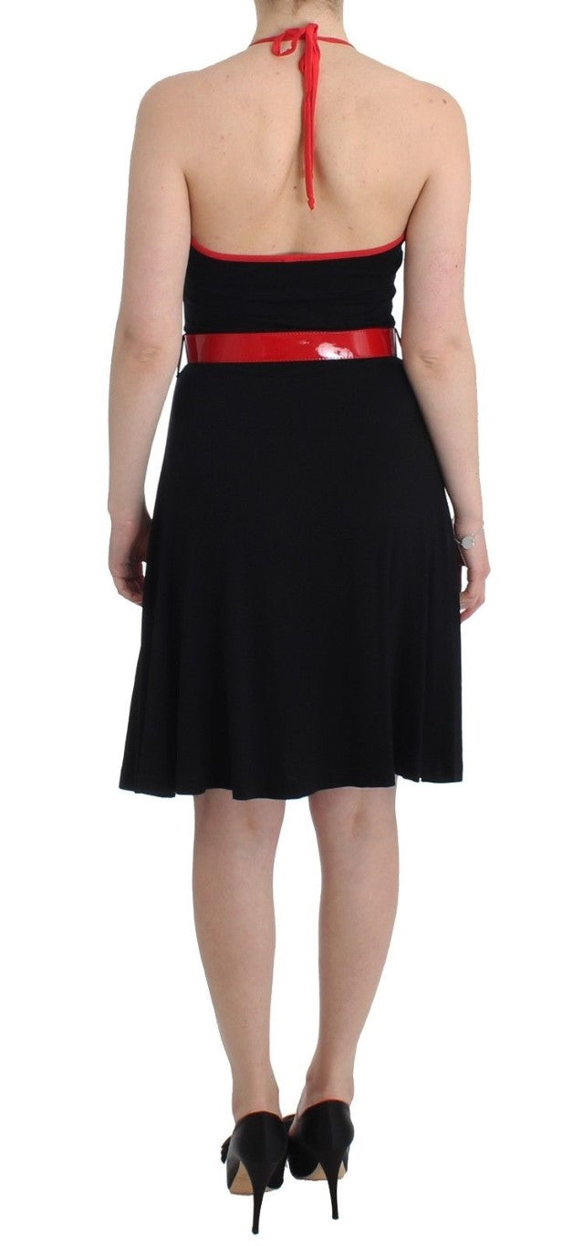 Black belted palladio dress