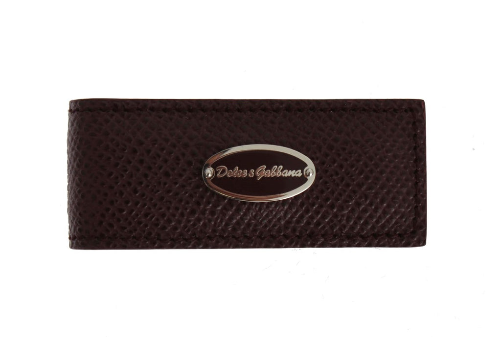Bordeaux Leather Magnet Money Clip