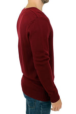 Bordeaux v-neck pullover sweater