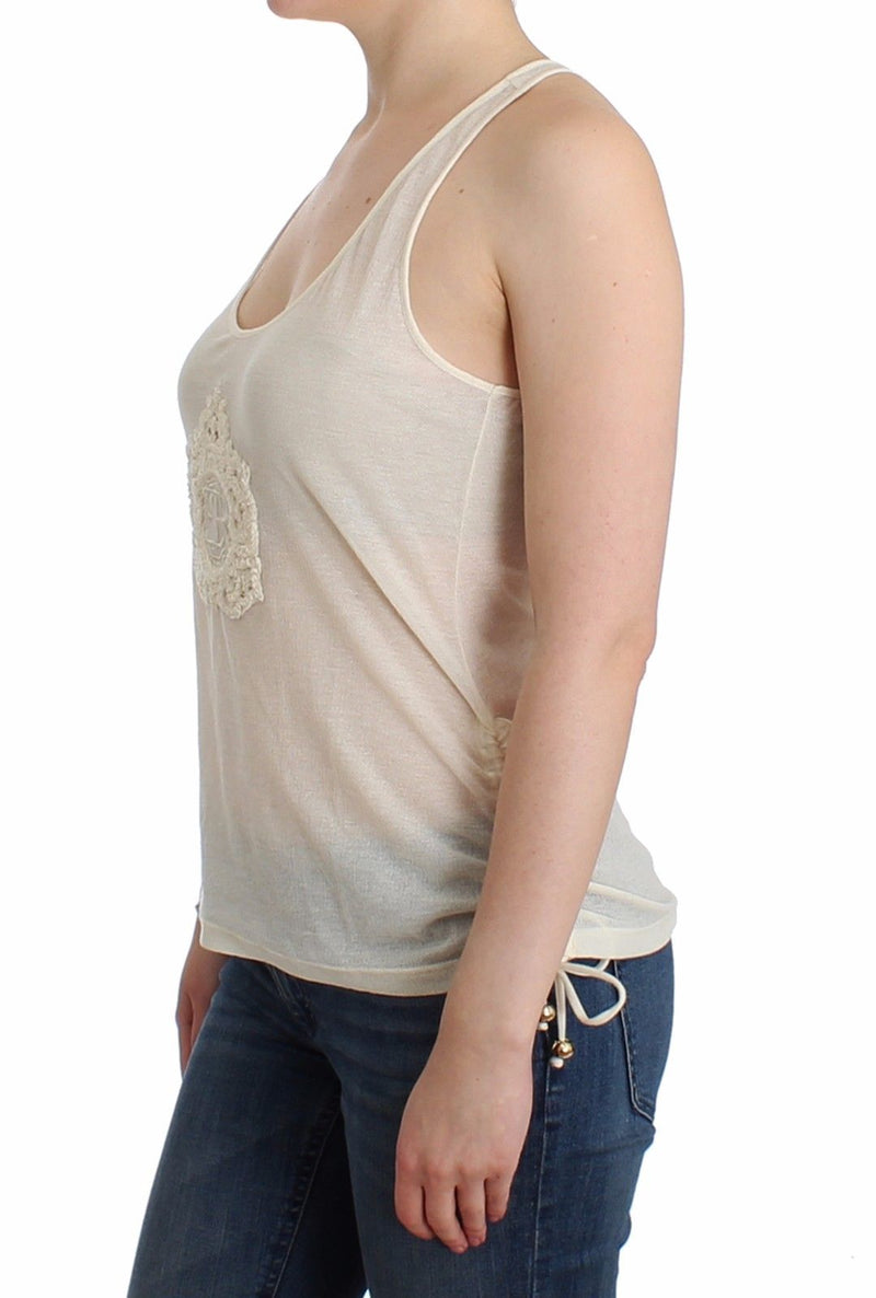 Beachwear White Tank Top Cami Blouse