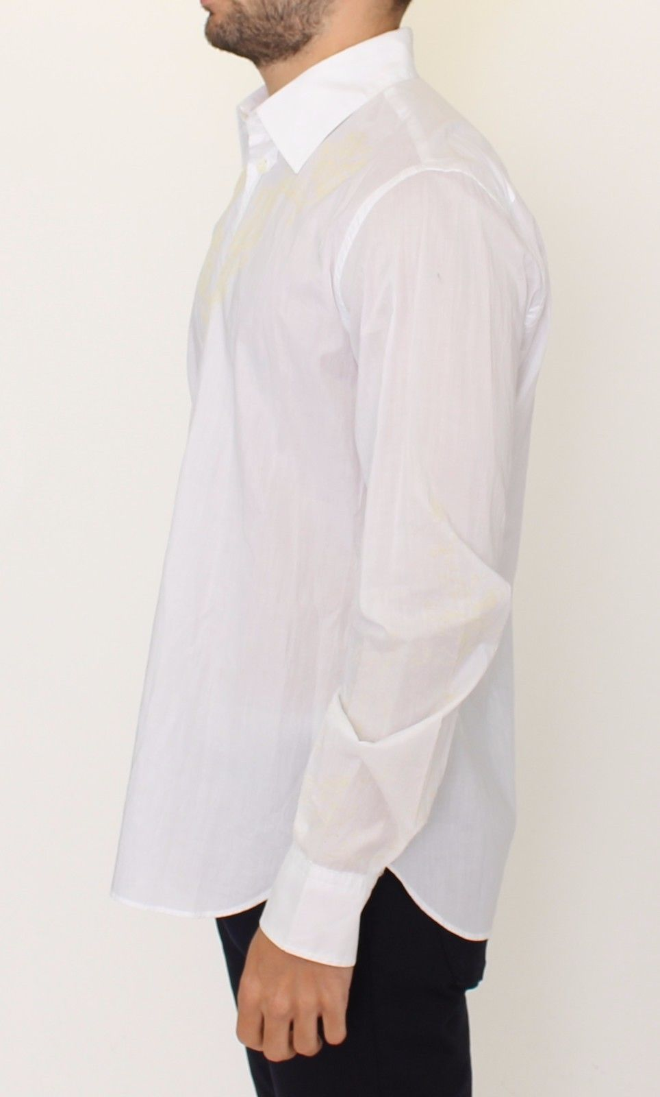 White Cotton Long Sleeve Casual Shirt Top