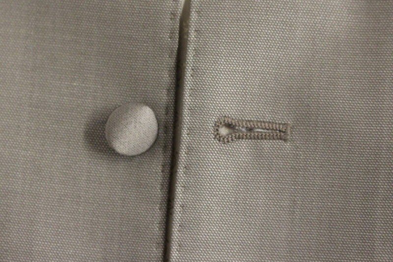 Gray Silver Wool Silk Dress Vest Gilet
