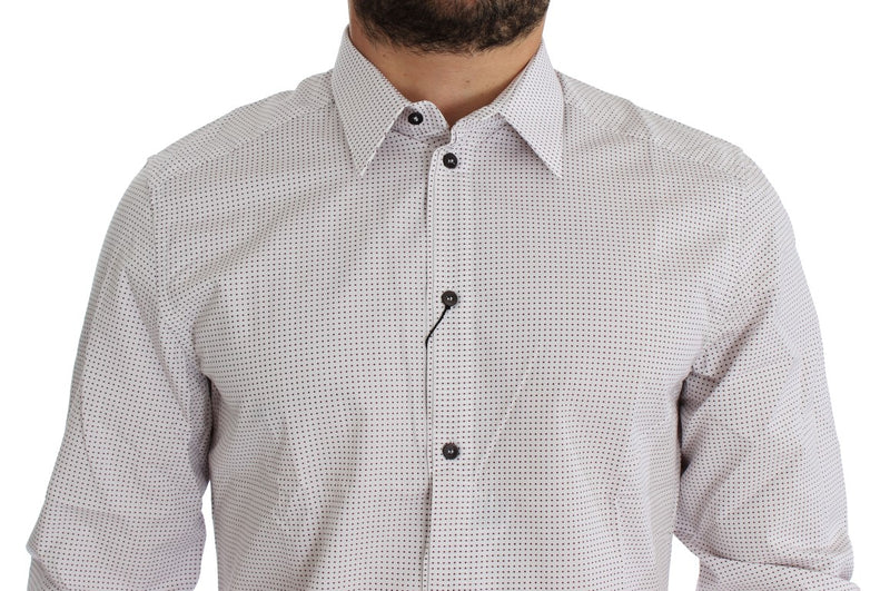 White Red GOLD Slim Fit Dress Shirt