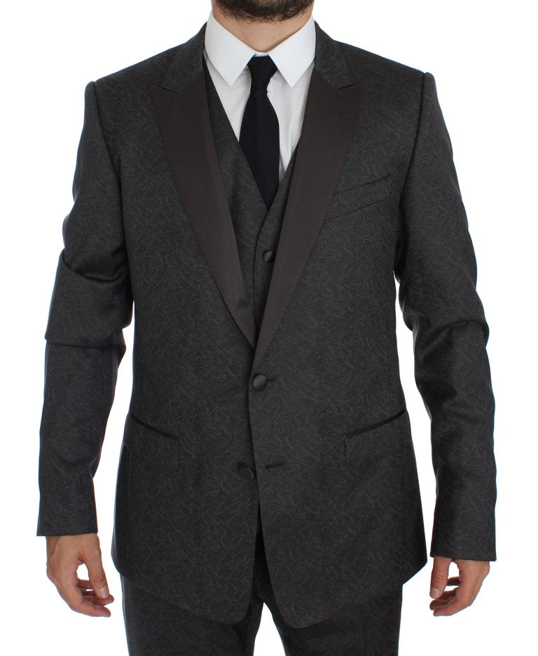 Gray MARTINI 3 Piece Slim Fit Suit Tuxedo